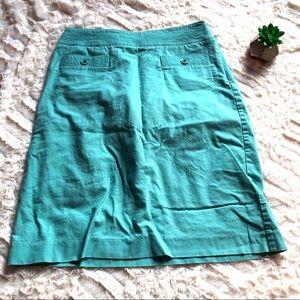 Talbots Aqua Blue MIDI Dress Skirts